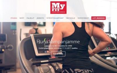 Kuntokeskus MyFit uudisti verkkosivunsa