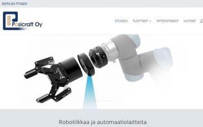 Robottien maahantuojalle Posicraftille uudet verkkosivut
