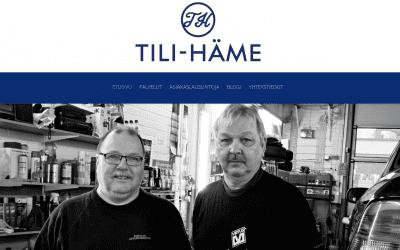 Tilitoimisto Tili-Hämeen kotisivut uudistettiin.