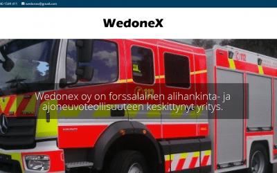 Ajoneuvoteollisuuden yritykselle Wedonex Oy:lle uudet responsiiviset sivut