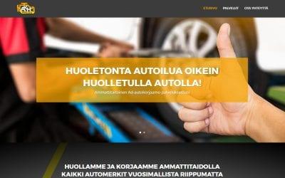 Auto- ja Konehuolto J.Palo Oy sai näyttävät uudet sivut.