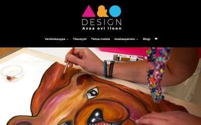 A&O Designille uudet sivut ja verkkokauppa