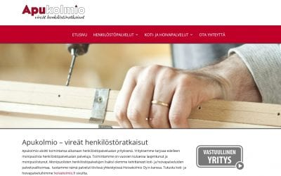 Apukolmio Oy:lle ja Hoivakolmio Oy:lle uudet näyttävät kotisivut