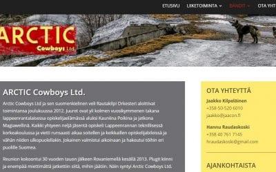 Arctic Cowboys Ltd Oy:lle uudet kotisivut