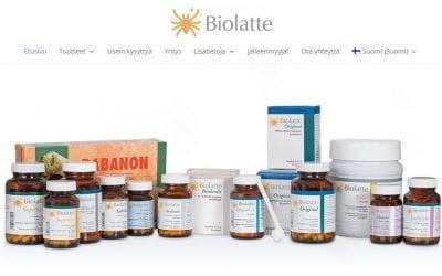 Maitohappobakteerivalmistaja Biolatte Oy:lle uusi laaja verkkopalvelu