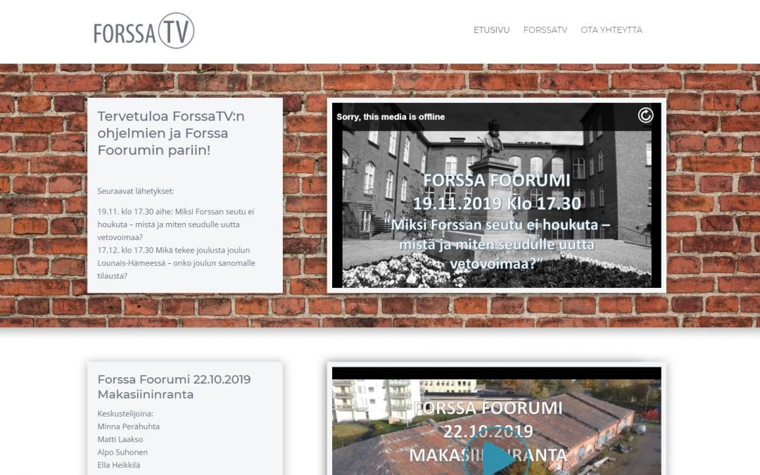 ForssaTV aloitti lähetyksensä