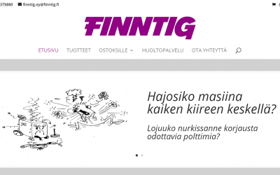Hitsausalan erikoisliike Finntig Oy:lle uusi verkkokauppa