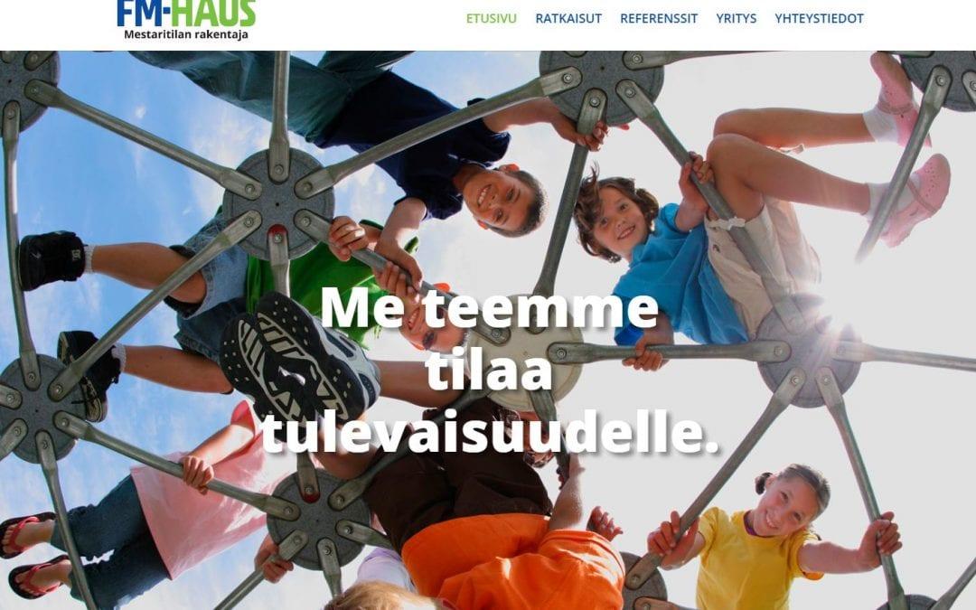 Tilanrakentaja FM-Haus Oy:lle uudet kotisivut