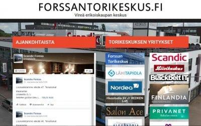 Vireä erikoiskaupan keskus Forssan Torikeskus uudisti verkkosivunsa.