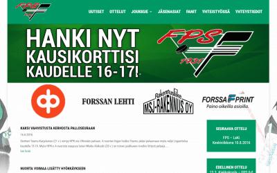 Jääkiekkoseura Forssan Palloseuralle uudet kotisivut