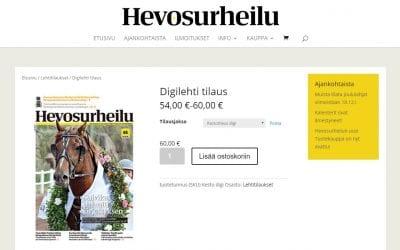Hevosurheilu-lehdelle uusi verkkokauppa