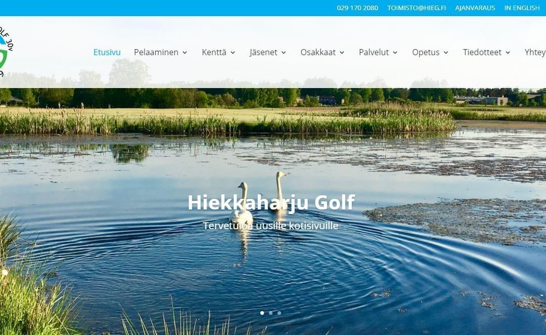 Hiekkaharju Golf ry:lle uudet kotisivut