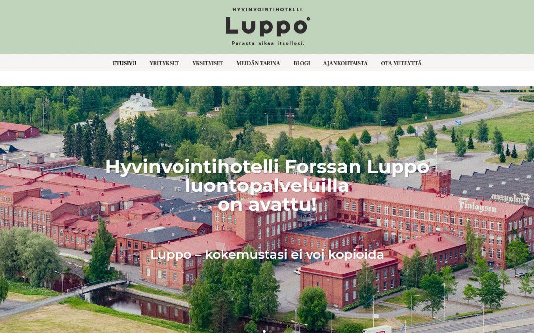 Uusi Hyvinvointihotelli Luppo avasi kotisivut