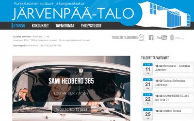 Kulttuuri- ja kongressikeskus Järvenpää-talo Dowebin verkkojulkaisuasiakkaaksi.