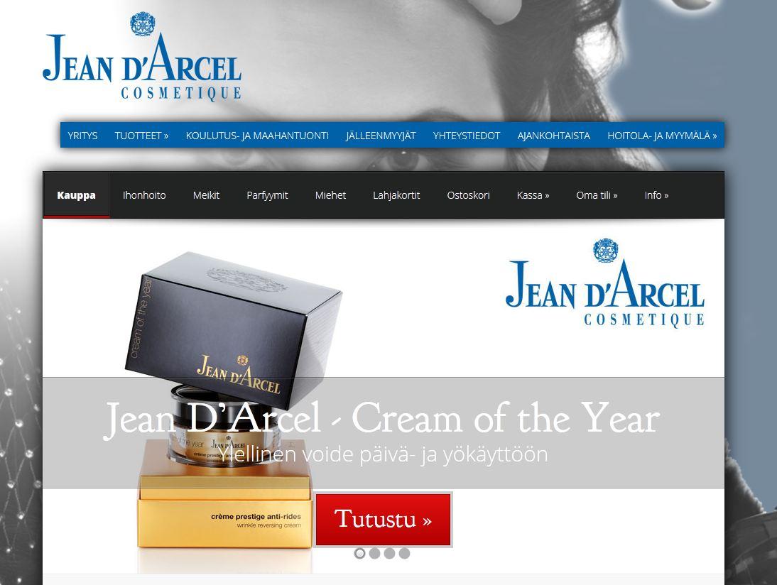Jean D'Arcelille laaja kosmetiikan verkkokauppa. Käy tutustumassa..