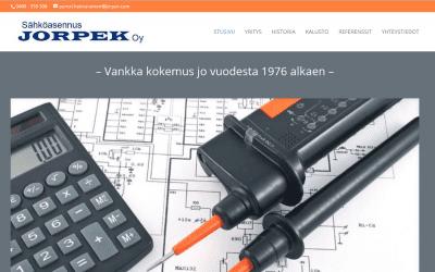 Sähköasennus Jorpek Oy vaihtoi mobiiliystävällisiin kotisivuihin