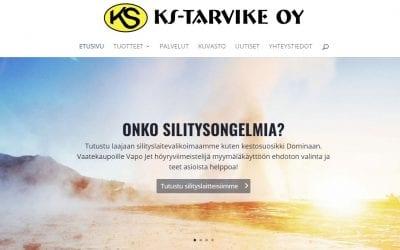 Ompelevan teollisuuden huolto- ja varaosayhtiö KS-Tarvike Oy uudisti verkkopalvelunsa