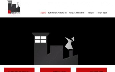 Kuntotehdas Punaisen Oven verkkosivusto uudistui responsiiviseksi sivustoksi