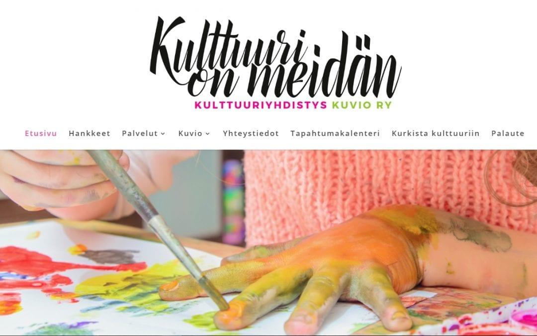 Kulttuurikeskus Kuviolle uudet sivut ja tapahtumakalenteri