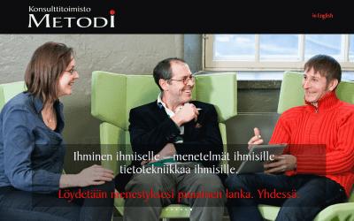 Konsulttitoimisto Metodi Oy:lle uusi verkkopalvelu
