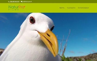 Uudet sivut NaturPro Films Oy:lle