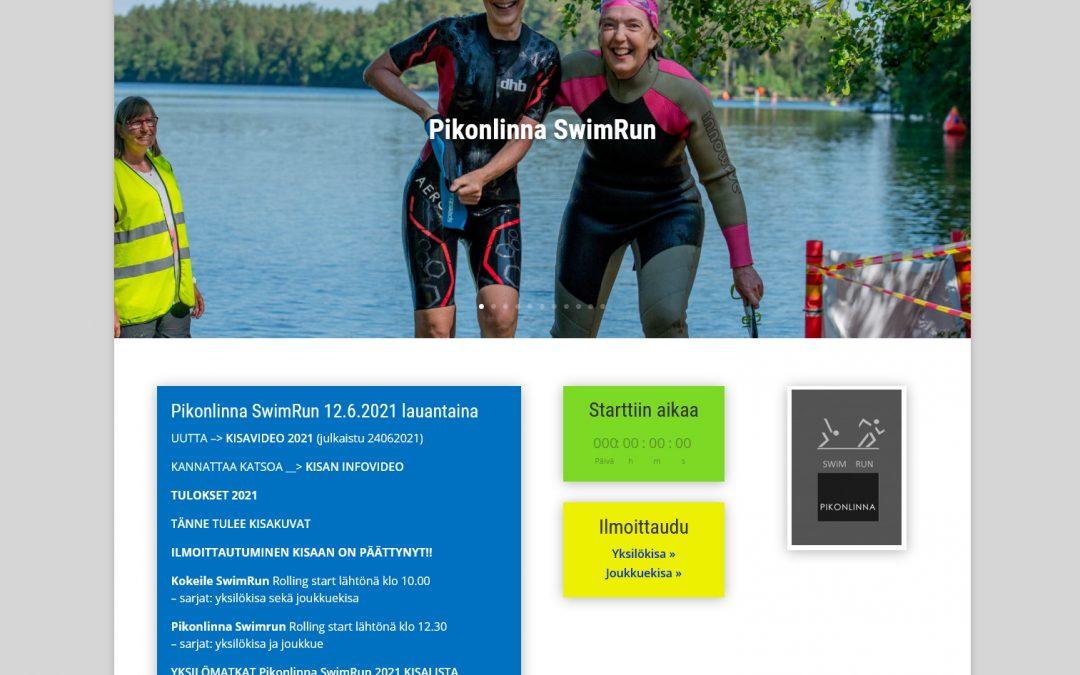 Pikonlinna Swimrun -tapahtumaan kotisivut