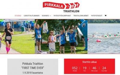 Pirkkala Triathlonille verkkokauppa ja kotisivut