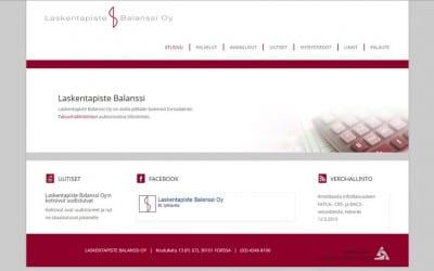 Laskentapiste Balanssi uudisti kotisivunsa Dowebin julkaisutyökalun avulla