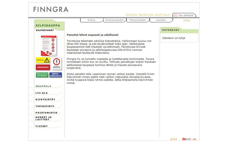 Finngra Oy valitsi Doweb Oy:n verkkokaupparatkaisun