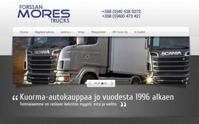 Raskaan kaluston kauppaa tekevä FM-Trucks sai uudet mobiilisivut.