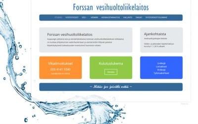 Forssan vesihuoltoliikelaitos uusi kotisivunsa Dowebin verkkojulkaisulla