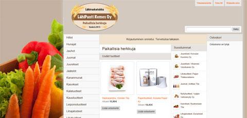 LähiPuoti Remes Oy:n lähiruokatukku avasi verkkopalvelunsa