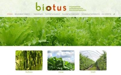Biotus Oy:n verkkosivusto uudistettiin