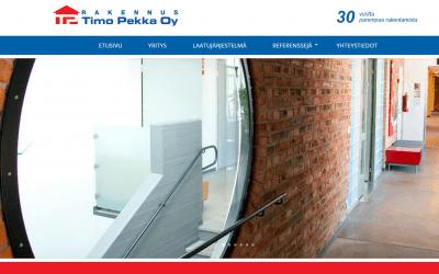 Rakennus Timo Pekka Oy uudisti kotisivunsa
