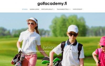 Golfacademylle uusitut kotisivut