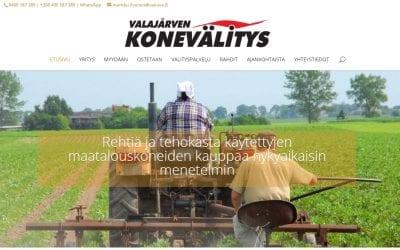 Vakova myy maatalouslaitteita uusilla verkkosivuilla