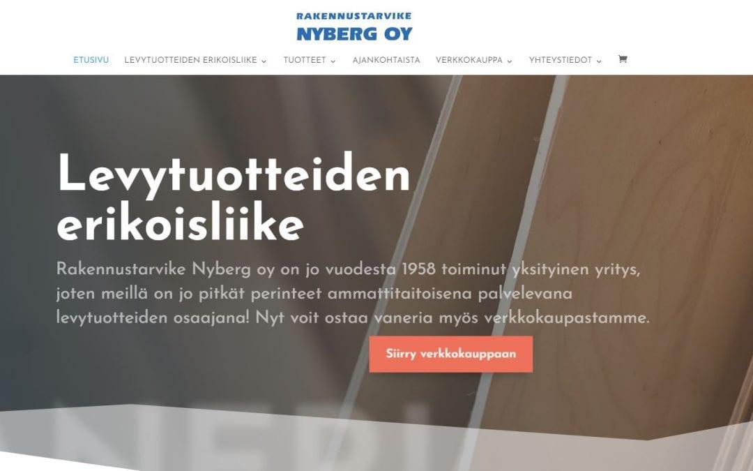 Rakennustarvike Nyberg Oy:lle uusi verkkokauppa ja kotisivut