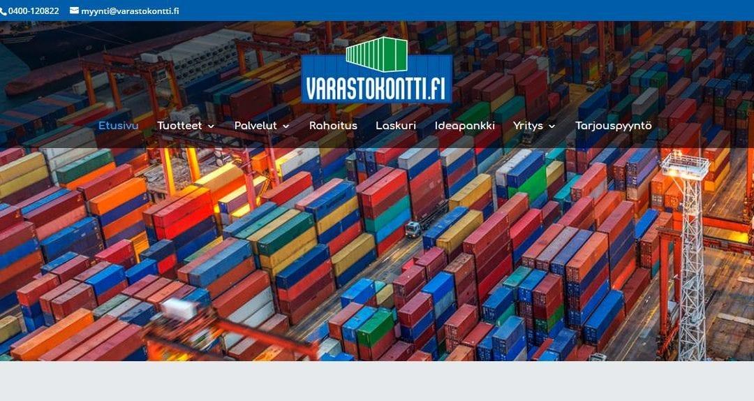 Suomen Varastokontti Oy:lle uudet verkkosivut