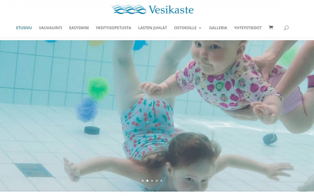 Vauvauinti Vesikaste uudisti verkkosivut ja verkkokaupan.