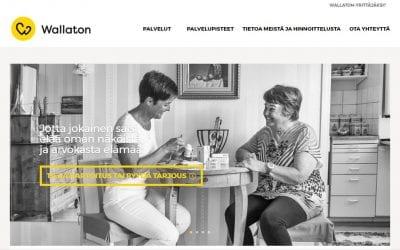 Hoivapalveluyritys Wallattoman uusi sivusto avautui