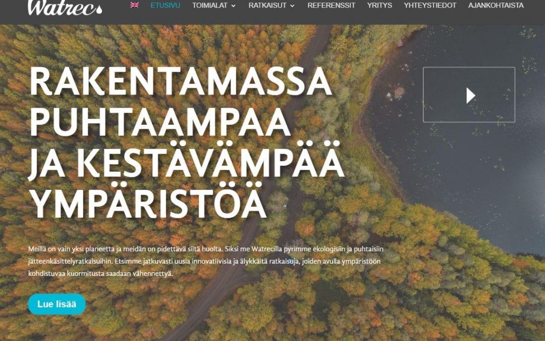Ympäristöalan asiantuntijayritykselle Watrecille uudet kotisivut