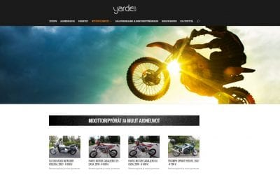 Moottoripyöräliike Yarde Oy:lle uudet näyttävät kotisivut